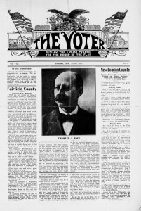 Thumbnail image of page 1 of the newspaper: The Voter, Aug. 1911 (Hartford)