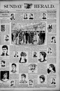 Thumbnail image of page 1 of the newspaper: Sunday Herald, Feb. 9, 1890 (Waterbury)
