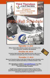 2016 Fall Third Thursday Schedule