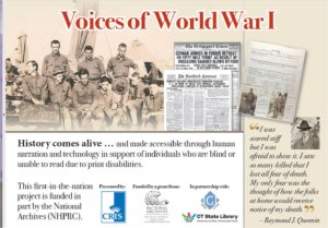 Voices of World War 1 Postcard with link to CRIS Radio Site