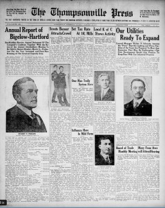 Thumbnail image of page 1 of the newspaper: Thompsonville Press, Feb. 23, 1922 (Enfield)