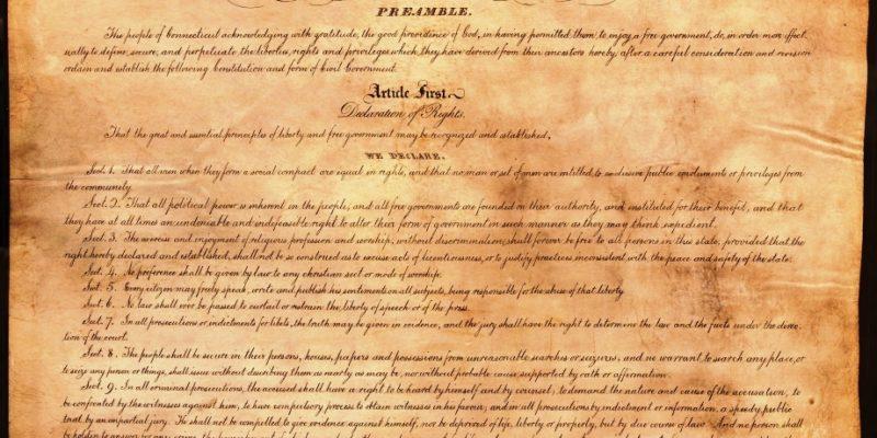 1818 Constitution of Connecticut Part 1